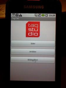 Skjermbilde forsiden til TagStudio App.