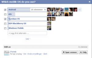 mobile os fb-spørsmål